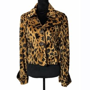 Boston Proper Leopard Animal Print Jacket Size 10